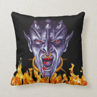 Evil Demon Slave Throw Pillow