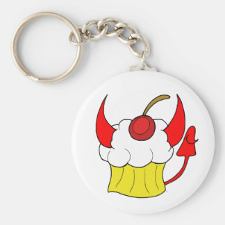 Evil Devil Vanilla Cupcake Keychain