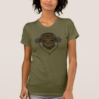 Evil DJ Sugar Skull (brown) T-shirt