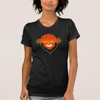 Evil DJ Sugar Skull (red) T-shirts
