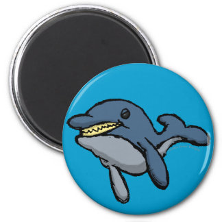 Evil Dolphin 2 Inch Round Magnet