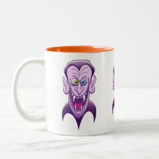 Evil Dracula Two-Tone Coffee Mug