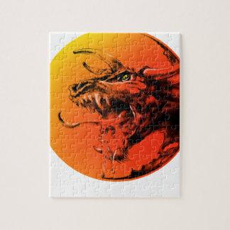 Evil dragon jigsaw puzzle
