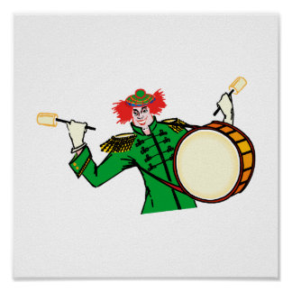 Evil Drummer Clown Print