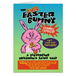Evil Easter Bunny Card