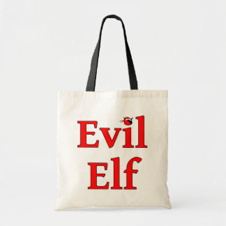 Evil Elf Holiday Budget Tote Bag