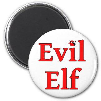 Evil Elf Round Holiday 2 Inch Round Magnet