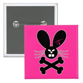 Evil Emo Bunny Crossbones Pins
