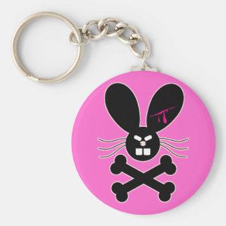 Evil Emo Bunny Crossbones Key Chains