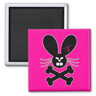 Evil Emo Bunny Crossbones Fridge Magnet