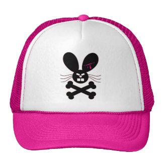Evil Emo Bunny Crossbones Trucker Hat
