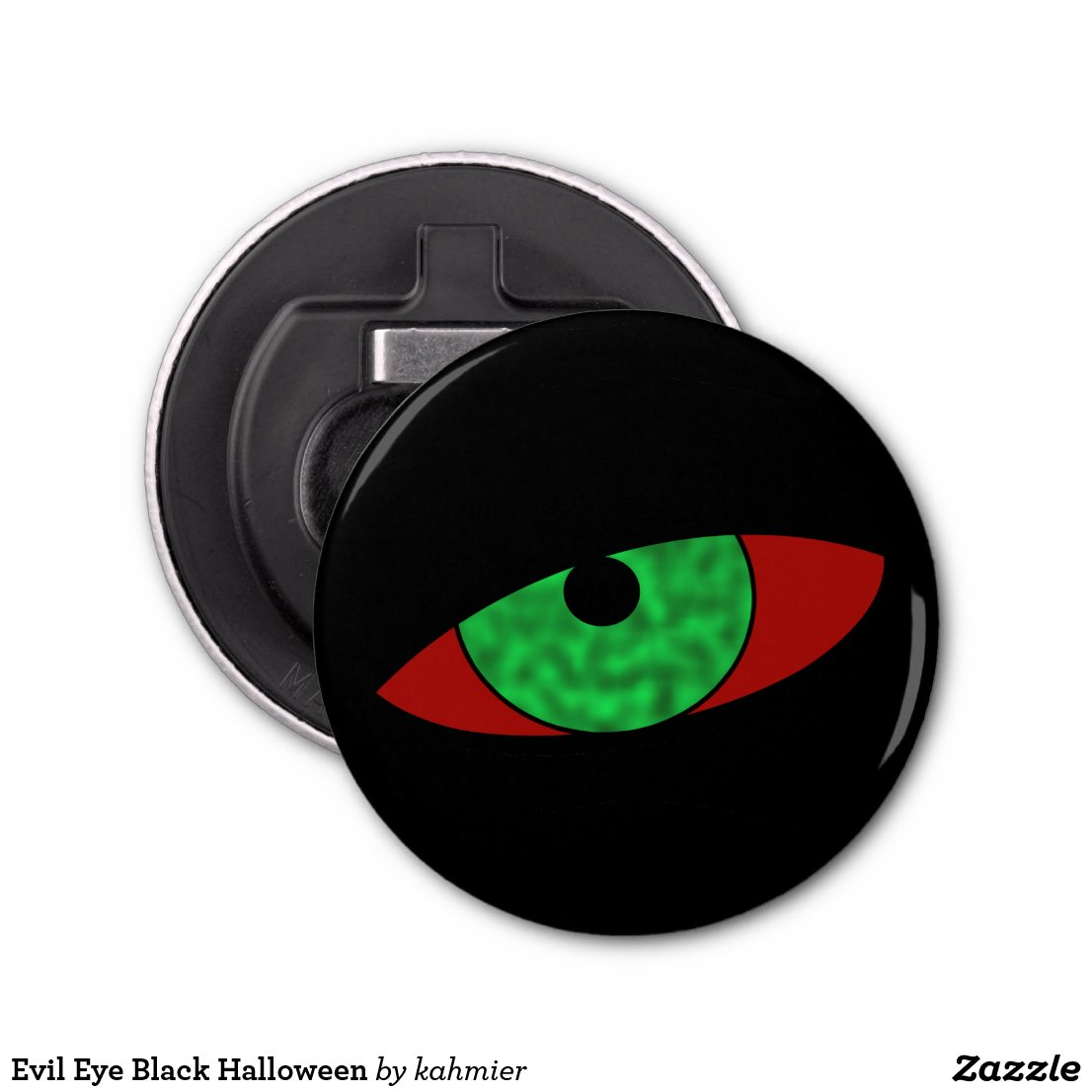 Evil Eye Black Halloween Bottle Opener