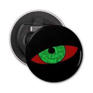 Evil Eye Black Halloween Bottle Opener