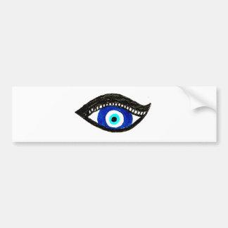 Evil eye bumper sticker