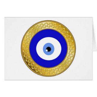 evil eye card-gold card