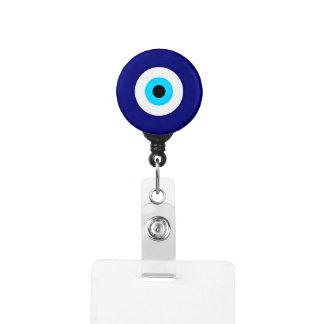 Evil Eye Charm Badge Holder