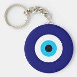 Evil Eye Charm Basic Round Button Keychain