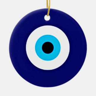 Evil Eye Charm Ceramic Ornament