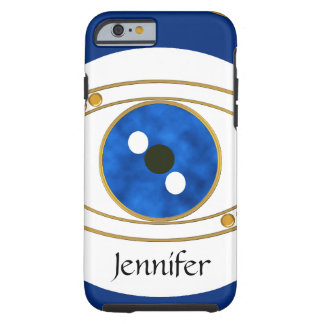 Evil Eye Custom iPhone 6 Case - Blue