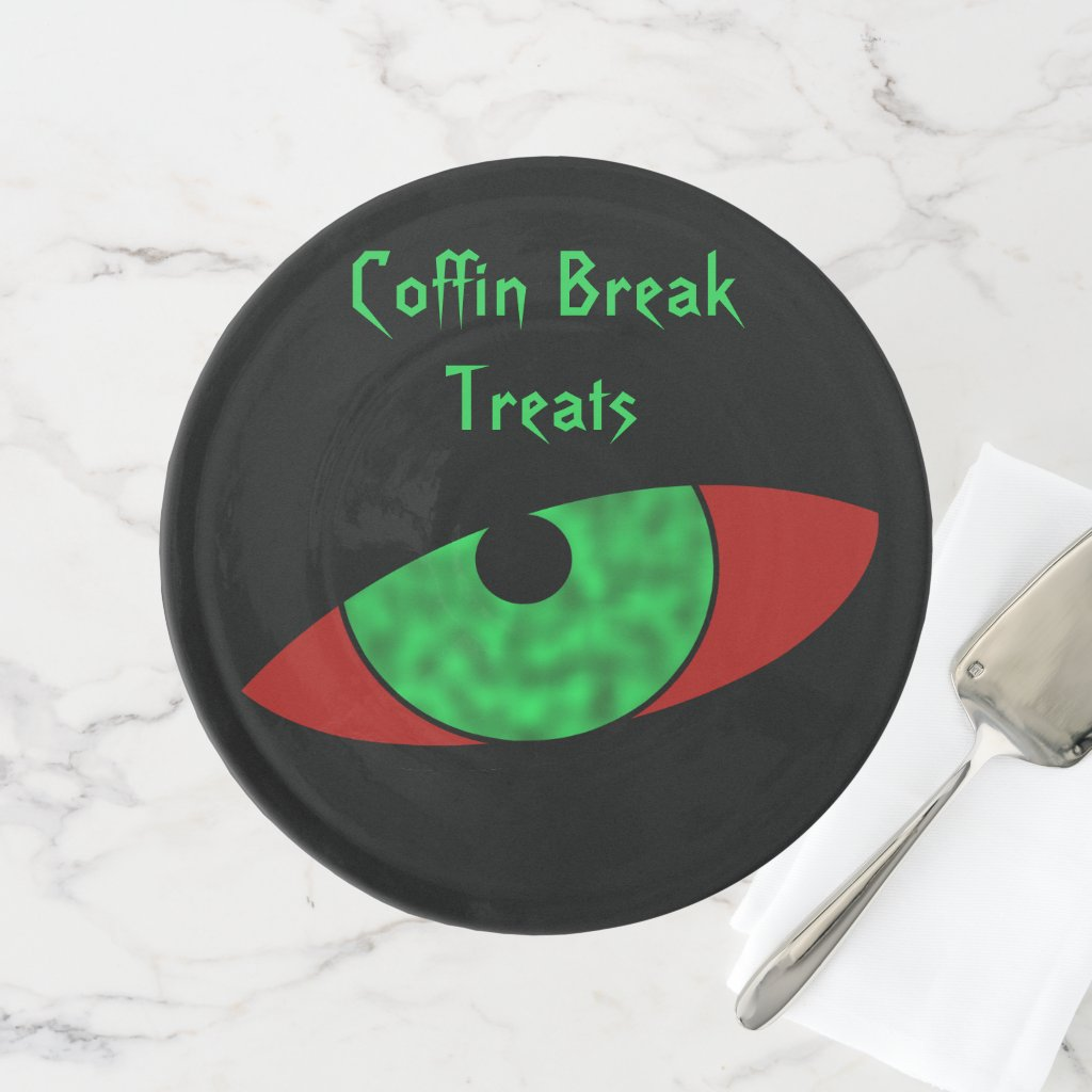 Evil Eye Custom Text Cake Stand