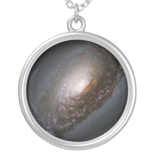 Evil Eye Galaxy Silver Plated Necklace