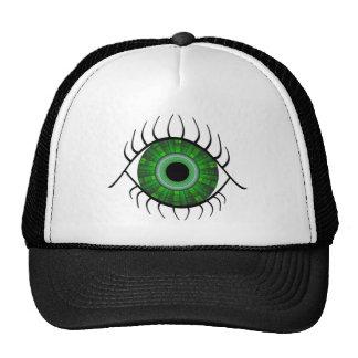 Evil Eye Green Trucker Hat