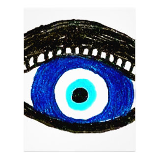 Evil eye letterhead design
