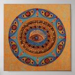 Evil Eye Mandala: Original Art Print