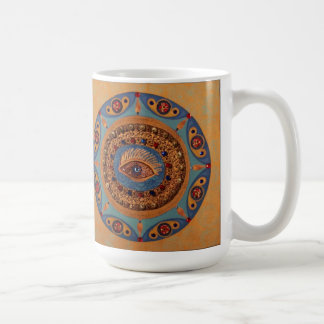 Evil Eye Mandala: Unique Painting Mug
