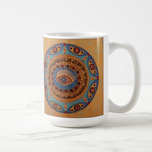 Evil Eye Mandala: Unique Painting Mug