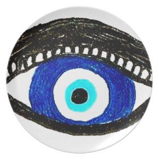 Evil eye plate