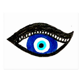 Evil eye post card