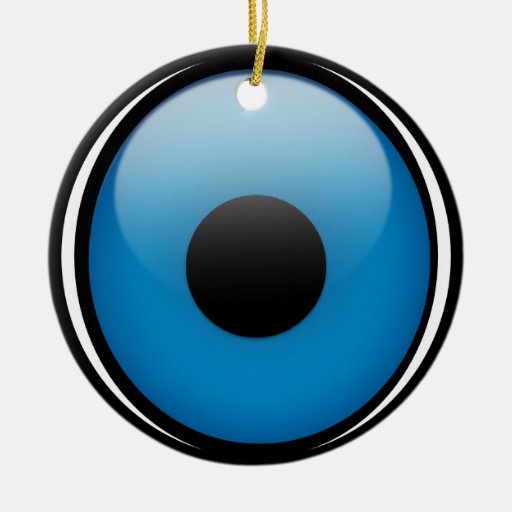 Eye protection greek ojo double sided ceramic round christmas ornament