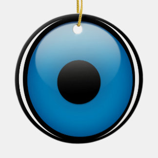 Evil Eye Protection Greek Ojo Double-Sided Ceramic Round Christmas Ornament