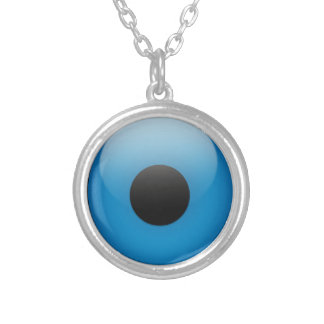 Evil Eye Protection Greek Ojo Silver Plated Necklace