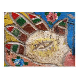 Evil Eye Protection Hamsa Hand Postcard