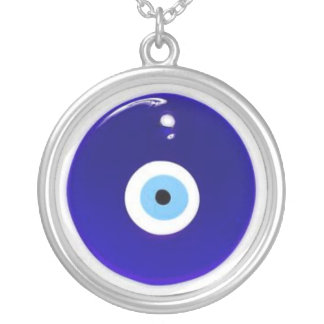 Evil Eye Silver Plated Necklace