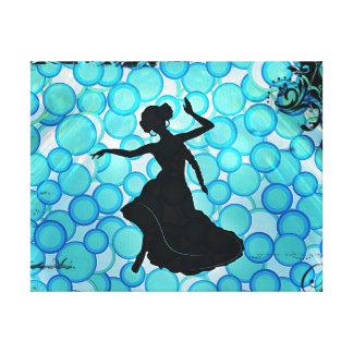 Evil Eye Siren belly dancer decor Canvas Print