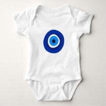 evil eye symbol greek turkish arab talisman baby bodysuit
