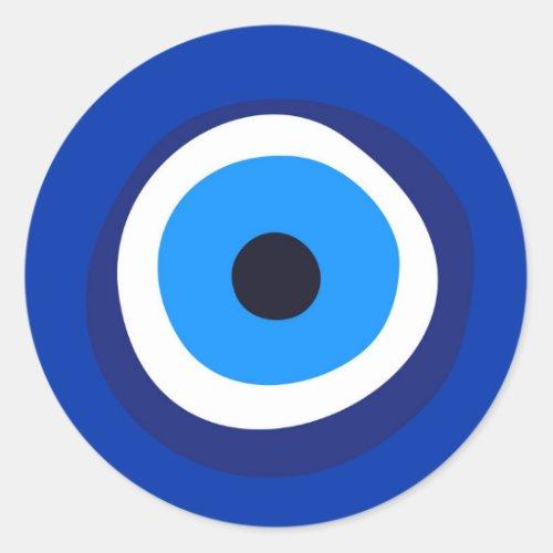 evil eye symbol greek turkish arab talisman classic round sticker