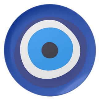 evil eye symbol greek turkish arab talisman melamine plate