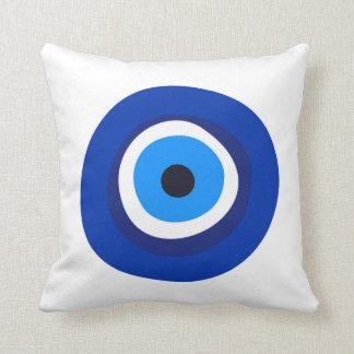 evil eye symbol greek turkish arab talisman throw pillow