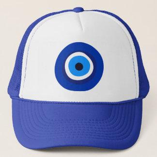 evil eye symbol greek turkish arab talisman trucker hat