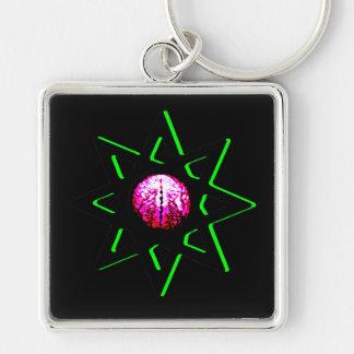 Evil Eye Talisman - Octagram - Occult Symbol Keychain