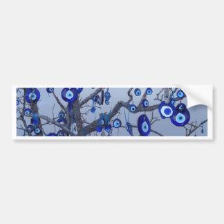 Evil Eye Tree, Blue Nazar Amulet charm accessories Bumper Sticker