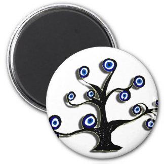 Evil Eye Tree Of Life Refrigerator Magnets