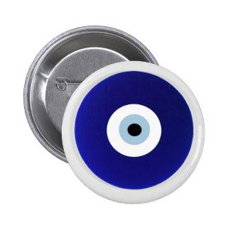 evil eye Vintage Oriental Pattern Design Button