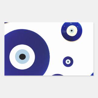 Evil Eye Vintage Oriental Pattern Design Rectangle Sticker