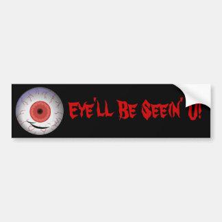 Evil Eyed Grin Bumper Sticker
