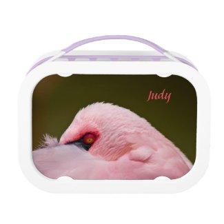 Evil Eyed Pink Flamingo Lunchbox